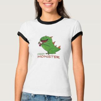 T-shirt Chemise végétarienne de dames de monstre