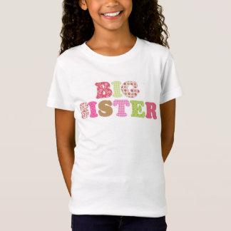 T-Shirt Chemise verte et rose adorable de grande soeur