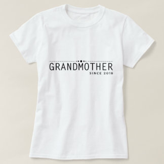 T-shirt Chemise vintage blanche noire de grand-mère depuis