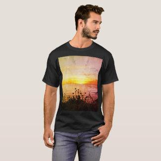 T-shirt Chemise vintage de coucher du soleil de Cali