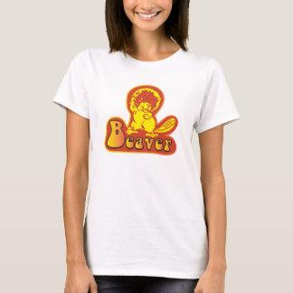 T-shirt chemise vintage de disco de castor des années 1970