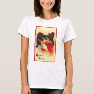 T-shirt Chemise vintage de salutations de Halloween
