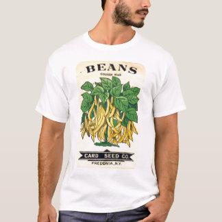T-shirt Chemise vintage d'étiquette de graine d'haricots