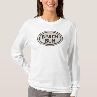 T-shirt Chemise vintage d'étiquette de plage de bon à rien