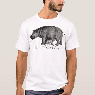 T-shirt Chemise vintage d'hippopotame
