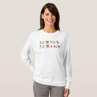 T-shirt Chemise vintage florale de Semper Femina