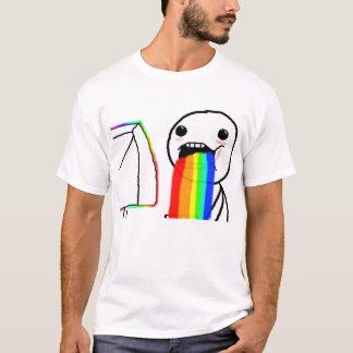 T-shirt Chemise vomissante de Meme d'arc-en-ciel