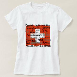 T-shirt Chemises de dames de cantons suisses