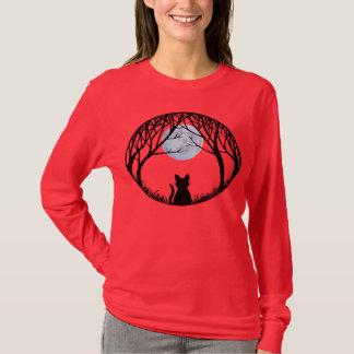 T-shirt Chemises de dames de chat de chemise de Halloween