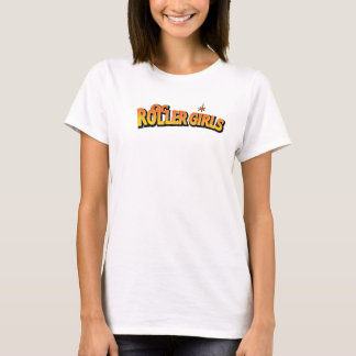T-shirt Chemises de Derby de rouleau de filles de rouleau