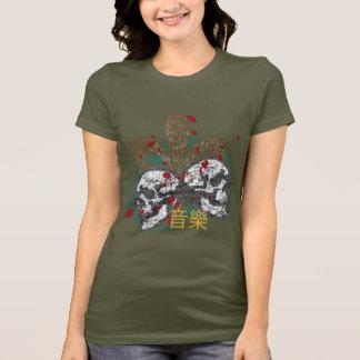 T-shirt Chemises de Fleur de Rock Women's