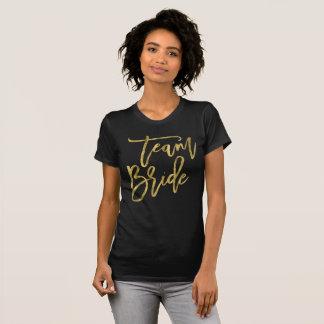 T-shirt Chemises de jeune mariée d'équipe d'effet de