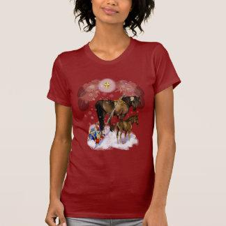 T-shirt Chemises de jument et de poulain de Chirstmas