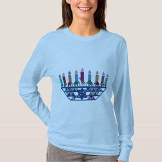 T-shirt Chemises de Menorah d'étoile d'éléphant