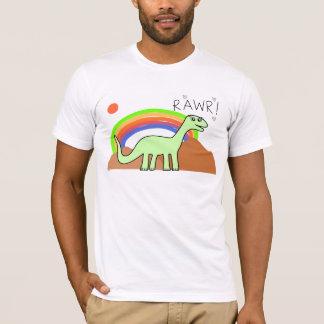 T-shirt Chemises de Rawr d'arc-en-ciel d'adultes