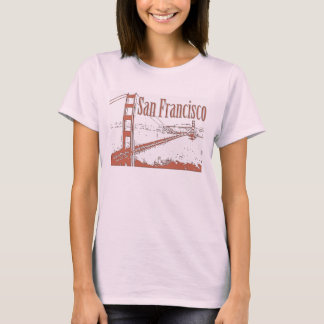 T-SHIRT CHEMISES DE SAN FRANCISCO GOLDEN GATE BRIDGE