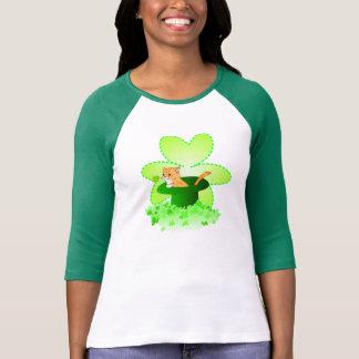 T-shirt Chemises du jour de St Patrick de chat