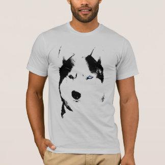 T-shirt Chemises enrouées de chien de traîneau de chien de
