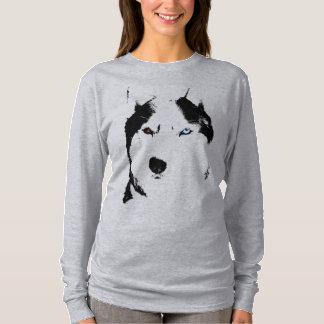 T-shirt Chemises enrouées de chien de traîneau de Malamute