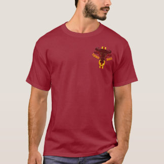 T-shirt Chemises et cadeaux de taureaux d'illustration de