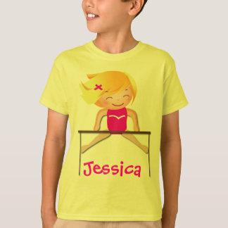 T-shirt Chemises personnalisées de fille de GYMNASTIQUE