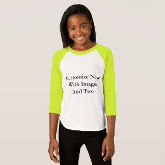 T-shirt Chemises raglanes - 3/4 fille de douille