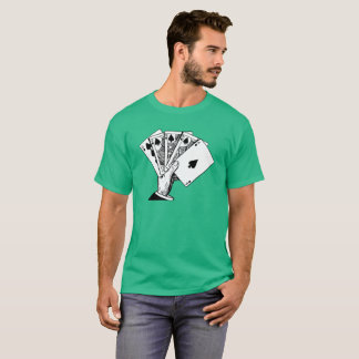 T-shirt Chemises vintages d'illustration de quinte royale
