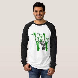 T-shirt Chemisette longue douille avec dessin de panda