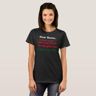 T-shirt Cher Père Noël… il l'a valu