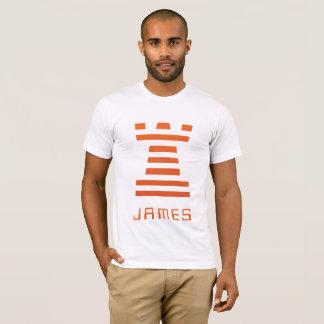 T-shirt ChessME ! L'inverse blanc ajoutent le nom