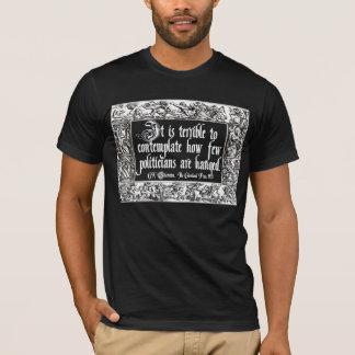 T-shirt Chesterton sur accrocher des politiciens : Manière