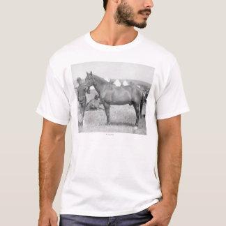 """T-shirt Cheval """"Comanche"""" le seul survivant du Custer"""