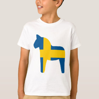 T-shirt Cheval de Dala de drapeau de la Suède