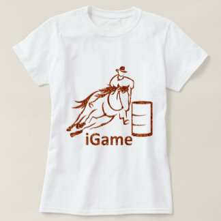 T-shirt cheval d'emballage de baril d'iGame