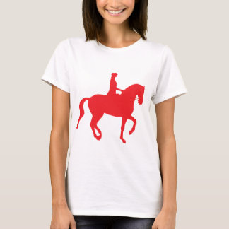 T-shirt Cheval et cavalier de dressage de Piaffe (red)