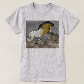 T-shirt Cheval sauvage d'Appaloosa de peau de daim