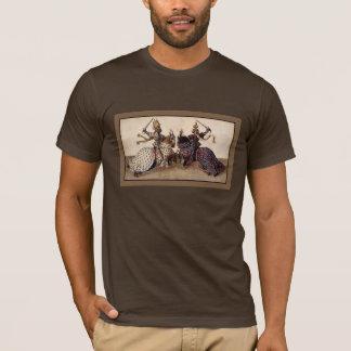 T-shirt chevaliers médiévaux joutant à cheval