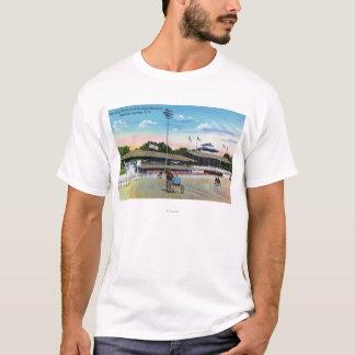 T-shirt Chevaux obtenant une séance d'entraînement de