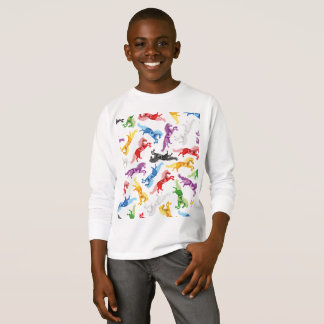 T-shirt Chevaux sautants colorés de motif