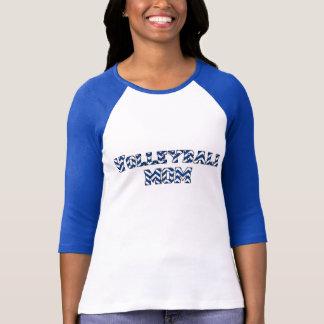 T-shirt Chevron de bleu de ~ de douille de la chemise 3/4