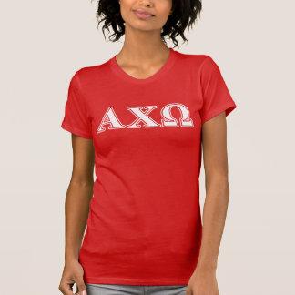 T-shirt Chi lettres blanches et rouges d'Omega d'Alphi