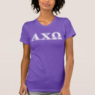 T-shirt Chi lettres blanches et vertes d'Omega d'Alphi
