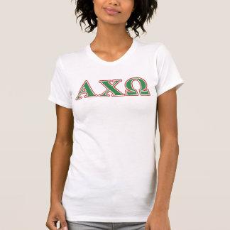 T-shirt Chi lettres vertes et rouges d'Omega d'Alphi