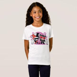 T-Shirt Chibi Harley Quinn et Catwoman de Chibi avec des