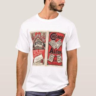 T-shirt Chicago et chemin de fer d'Alton