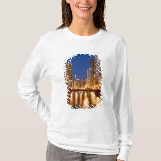 T-shirt Chicago, Illinois, horizon et rivière Chicago à