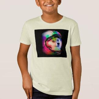 T-Shirt Chien astronaute-coloré de doge - chien de