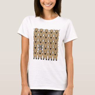 T-shirt Chien australien de bétail dans le troupeau