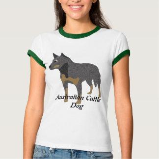 T-shirt Chien australien de bétail de bande dessinée