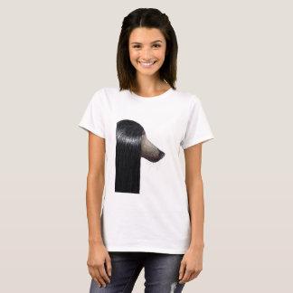 T-shirt Chien aux cheveux longs